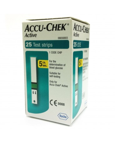 ACCU-CHEK ACTIVE STRIPS 25 PEZZI