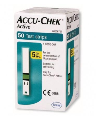 ACCU-CHEK ACTIVE STRIPS 50 PEZZI