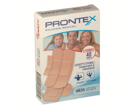 CEROTTO PRONTEX SKIN STRIPS ASSORTITI 40 PEZZI
