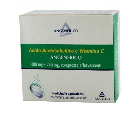 ACIDO ACETILSALICILICO E VITAMINA C ANGELINI 20 COMPRESSE EFFERVESCENTE