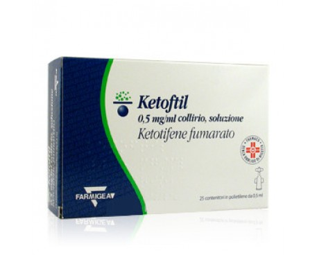 KETOFTIL COLLIRIO 25 FLACONCINI 0,5ML 0,5MG/ML