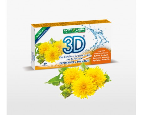 3D DRENANTE E DEPURATIVO 30 COMPRESSE