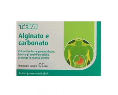 ALGINATO CARBONATO 24 COMPRESSE MASTICABILI