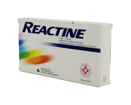 REACTINE 6 COMPRESSE 5MG+120MG