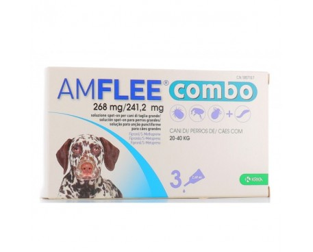 AMFLEE COMBO 3 PIPETTE 268MG+241,2MG