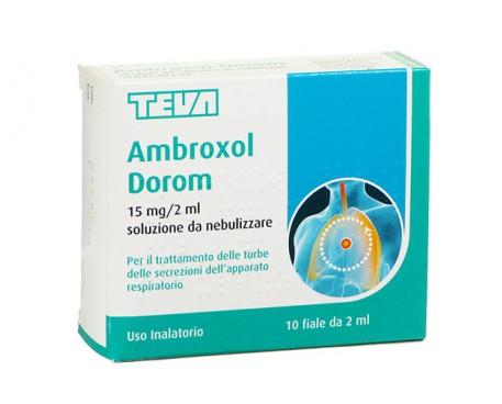 AMBROXOL TEVA NEBILIZZARE 10 FLACONCINI 2ML 15MG