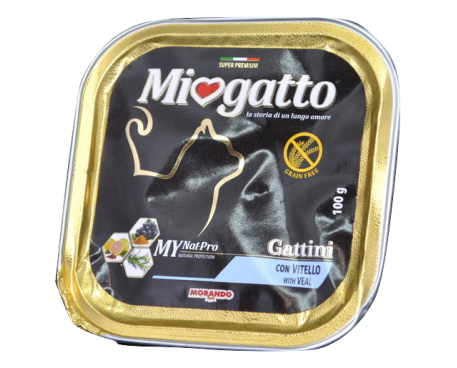 MIOGATTO GATTINI VITELLO 100G