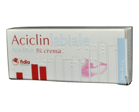 ACICLIN LABIALE CREMA 2G 5%