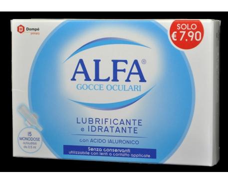 ALFA LUBRIFICANTE MONODOSE 15 FLACONCINI