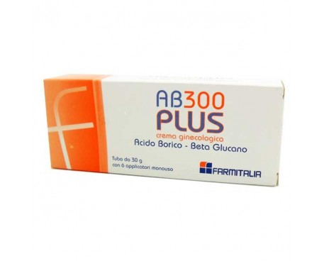 AB 300 PLUS CREMA GINECOLOGICA CON 6 APPLICATORI