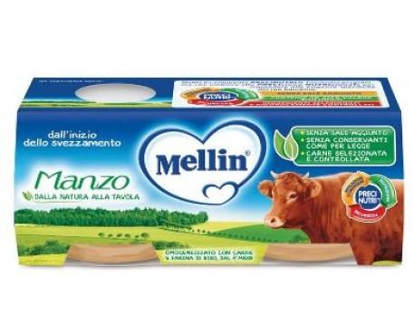 MELLIN OMOGENEIZZATO MANZO 2X80G