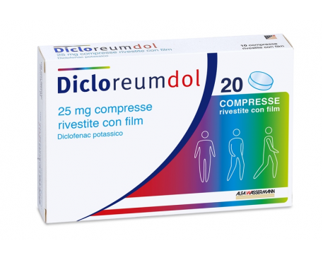 DICLOREUMDOL 20 COMPRESSE RIVESTITE 25MG
