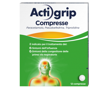 ACTIGRIP*12CPR 2,5+60+500MG